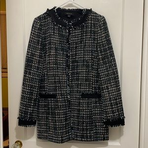 Ann Taylor Tweed Coat Size Small